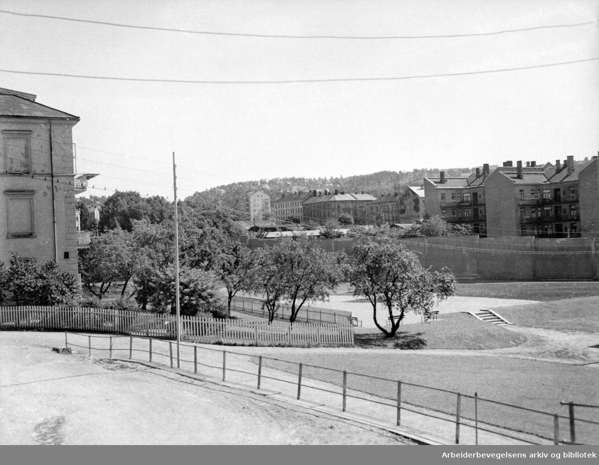 Kretsfengselet i Åkebergveien, kvinneavdelingen. Juli 1955