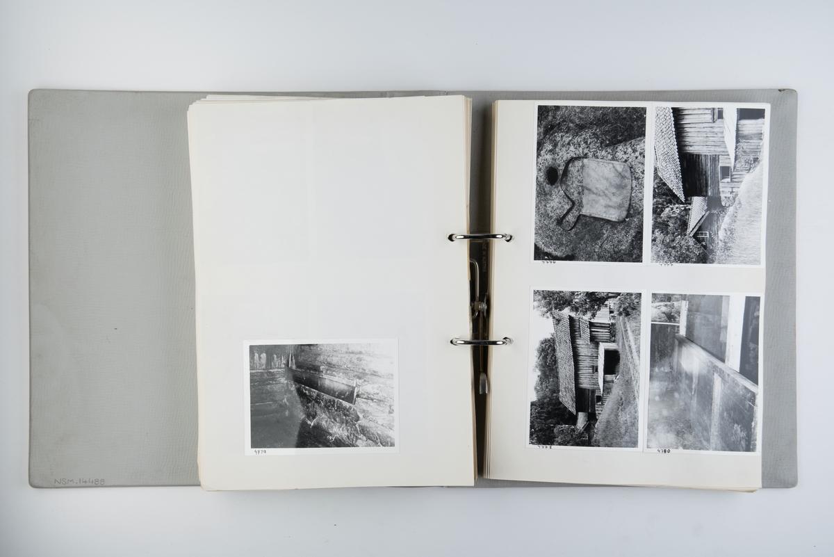 Album med fotografier av Norsk Sjøfartsmuseums ekspedisjon til Sørlandskysten i 1970.