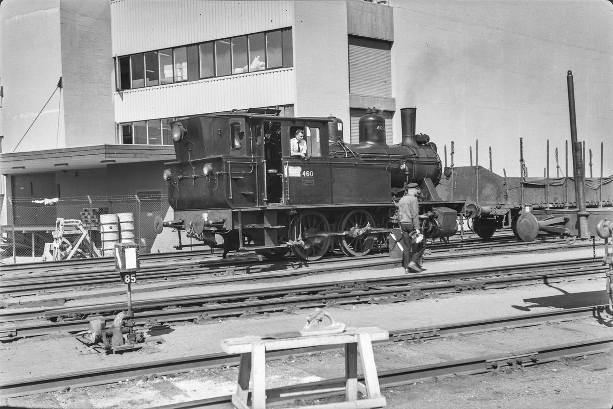 Damplokomotiv type 23b nr. 460i skiftetjeneste på Trondheim stasjon.