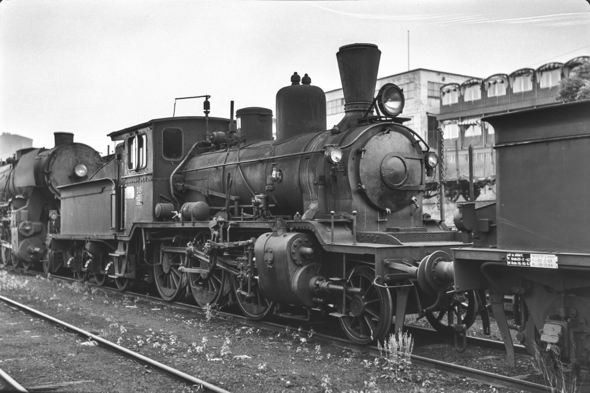 Utrangert damplokomotiv type 21b nr, 315 i Lodalen i Oslo.