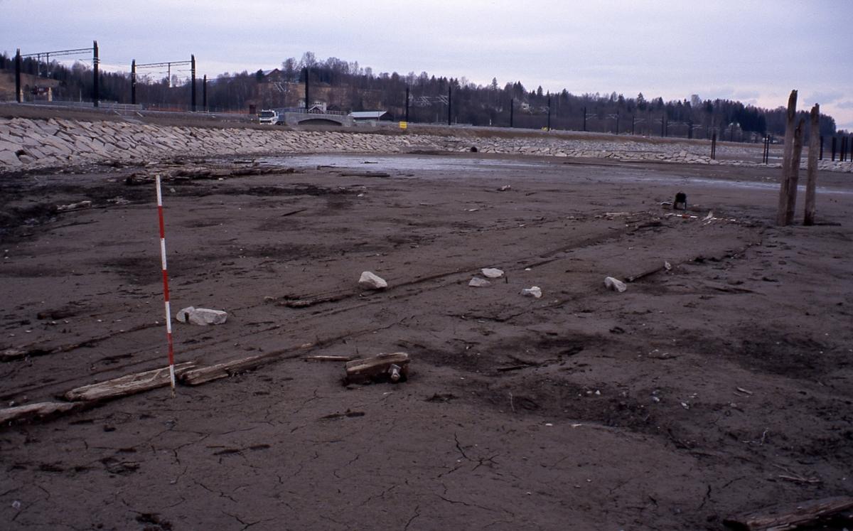 Fra utgraving ved Eidsvoll stasjon.
