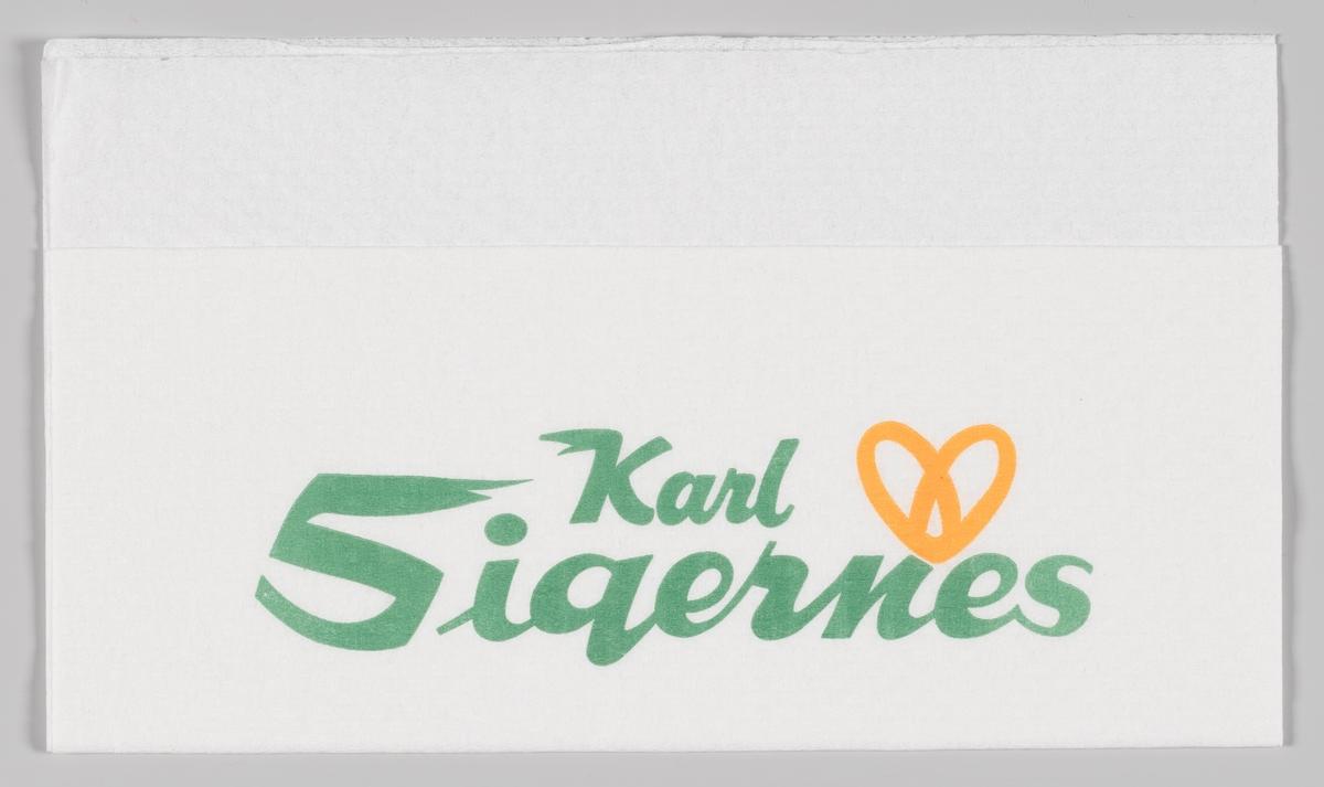 En kringle og reklametekst for Karl Sigernes bakeri og konditori.  Karl Sigernes Bakeri og Konditori ble startet i Asker 12. juni 1936 av Randi og Karl Sigernes. Karl Sigernes Bakeri og Konditori leverte brød og bakevarer med hest til flere landhandlerier på strekningen Hvalstad–Sem–Asker sentrum. Sønnen Tore Sigernes begynte i firmaet i 1955. Selskapet vokste kraftig i 1980- og 90-årene. Serveringsstedet Sommerfuglen ble åpnet på Varden i 1980. To år senere åpnet bakeriet og konditoriet Marie i Vektergården og Holmenbukten Bakeri og Café i Holmensenteret. Bakverket på Bærums Verk åpnet i 1984, og Marie i Heggedal senter i 1986. Eddie's Lille Bakeriteater på Aker Brygge ble overtatt i 1987. To nye filialer ble åpnet i Sandvika Storsenter i 1993. Ytterligere fem bakerier og konditorier ble kjøpt opp og etablert på Østerås, Bekkestua, Oslo og Drammen. Karl Sigernes AS hadde 13 bakerier og konditorier, om lag 160 ansatte og omsatte for 122 millioner kroner da selskapet i 1997 ble solgt til Bakehuset Norge AS. Seks år senere ble dette selskapet igjen solgt til Orkla-eide Bakers AS.   Etter salget i 1997 fortsatte Tore Sigernes egen virksomhet gjennom Vollen Bakeri AS – Café Oscar. Tore Sigernes hadde i 1988 kjøpt Ole Lunds tidligere landhandleri og bolig i Vollen av Signe Lund Nilsen. Kjøpet omfattet også den gamle stallen, hønsehuset, garasjen og bakeriet, der Vollen Bakeri – Café Oscar åpnet i 1990. Bygningene er gradvis blitt restaurert og utviklet med leietakere, som sammen utgjør Vollen Handelssted