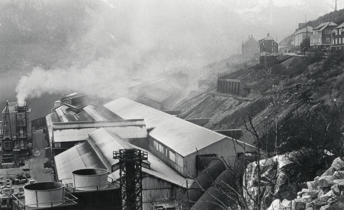 Oversikt, DNN Aluminium, Nitriden, røykutslipp, bustadhus, Verdens ende, Tyssedal
