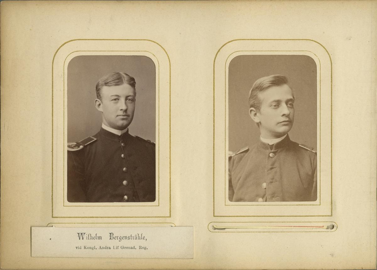 Porträtt av Anders Hugo Levin vid Krigsskolan Karlberg.  Se även bild AMA.0001894, AMA.0007947 och AMA.0021746.