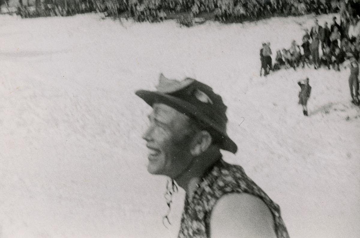 Mr Kongsgård during fancy dress ball