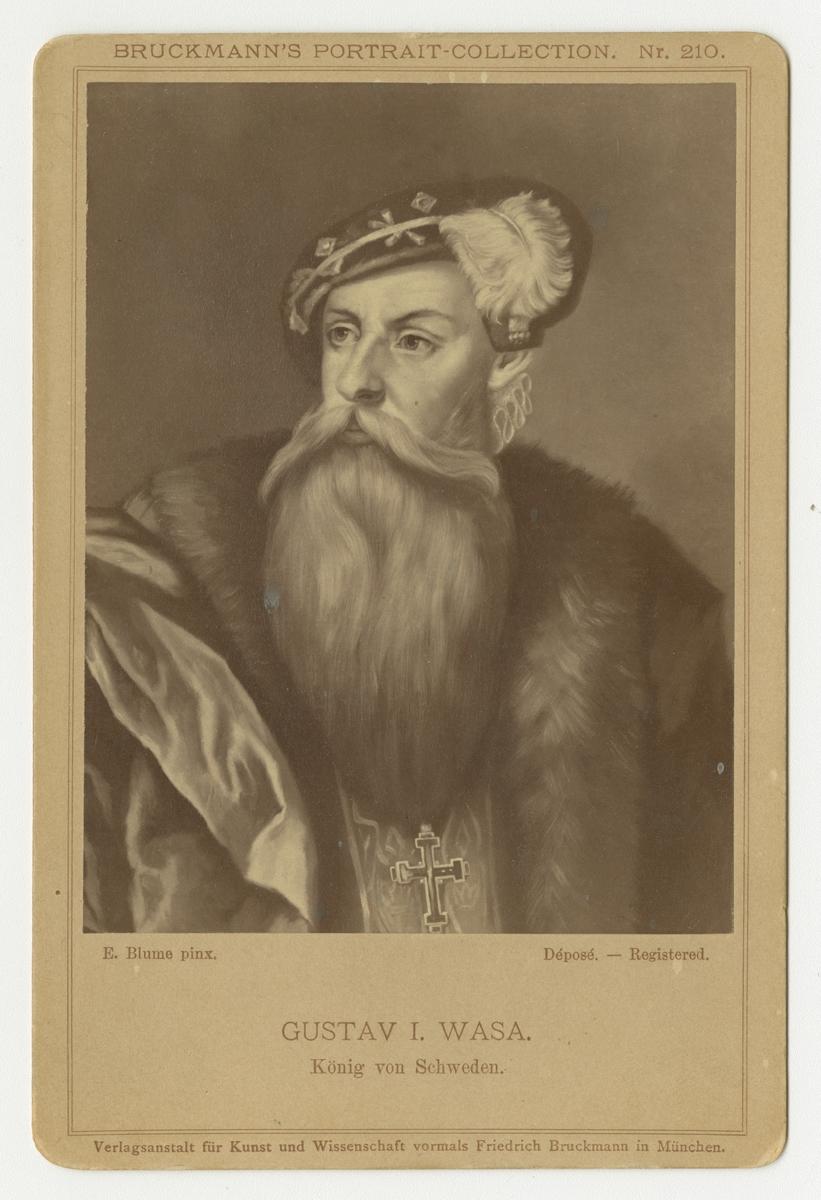 Porträtt av Gustav Vasa.