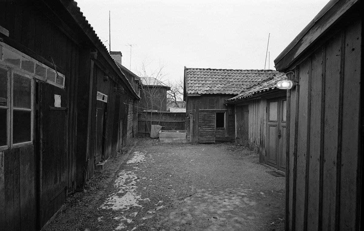 Kvarteret Tullnären, mellan Storgatan - Trädgårdsgatan och Herrgårdsgatan - Paradisgränd. Exteriör mot innegård.