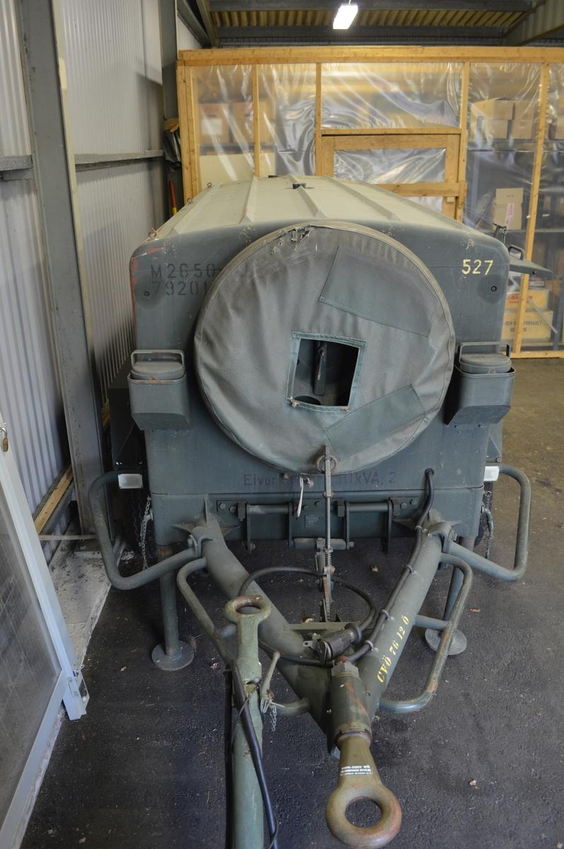 Elverket strömförsörjde LV-tropp 75M; 2 stycken 40 mm fältautomatpjäs modell 1948 och eldledning bestående av S-plats och sikte. Uttag för 220 volt fanns även på elverket.
