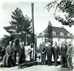 Luftverkanon 7,5 cm. M / 1935  3. Her står Dir. Finne med st