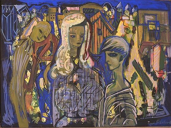 Kvinne og narr [Maleri]