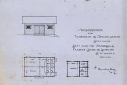 Uthusbygninger for Thamshavn og Orkedalsøren stasjoner. [Teg