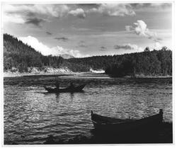 Laksefiske i Malangsfossen i Målselv