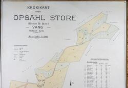 Gards kart, Krokikart over eiendommen Opsahl Store. Gårdsnr: