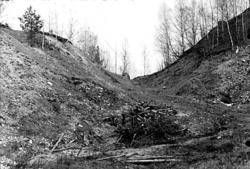 Gravfältsområdet, omedelbart norr om Ströbohög, före renover