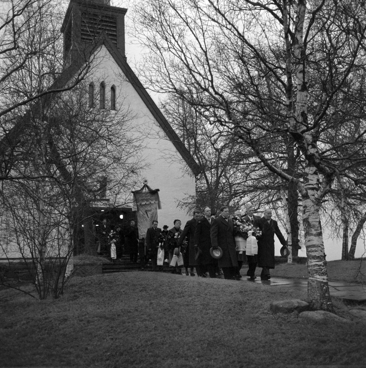 Begravelsen til ordfører Sverre Svendsen i Ranheim kirke