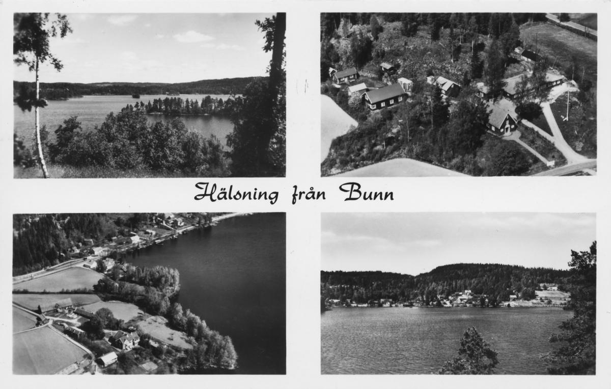 Flygfoto över Bunn i Jönköpings kommun . A 1398