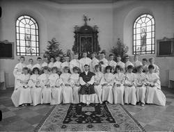 Konfirmander, Östhammars kyrka, Uppland 1963