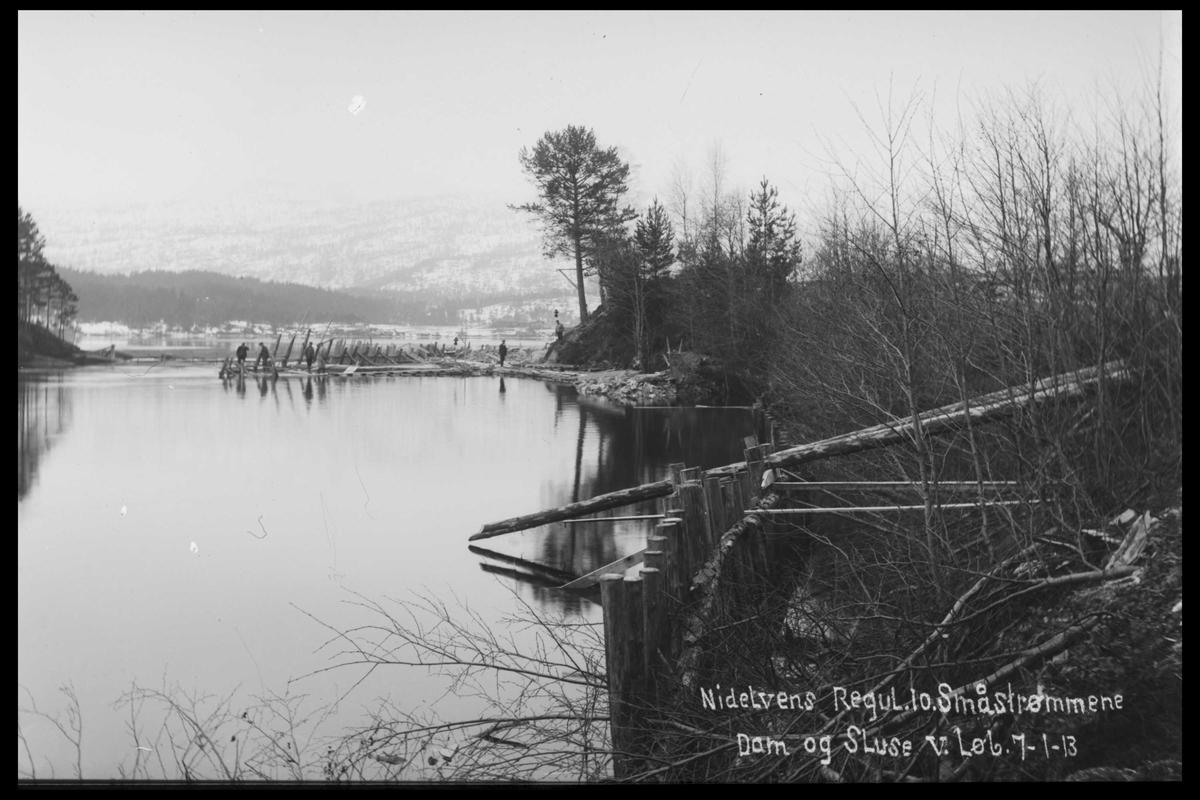 Arendal Fossekompani i begynnelsen av 1900-tallet CD merket 0446, Bilde: 58 Sted: Småstraumene Beskrivelse: Regulering