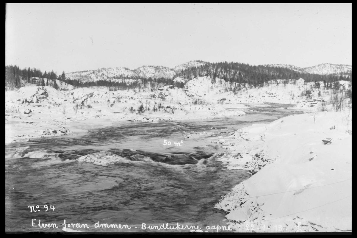 Arendal Fossekompani i begynnelsen av 1900-tallet CD merket 0565, Bilde: 18 Sted: Haugsjå Beskrivelse: Dammens nordområde