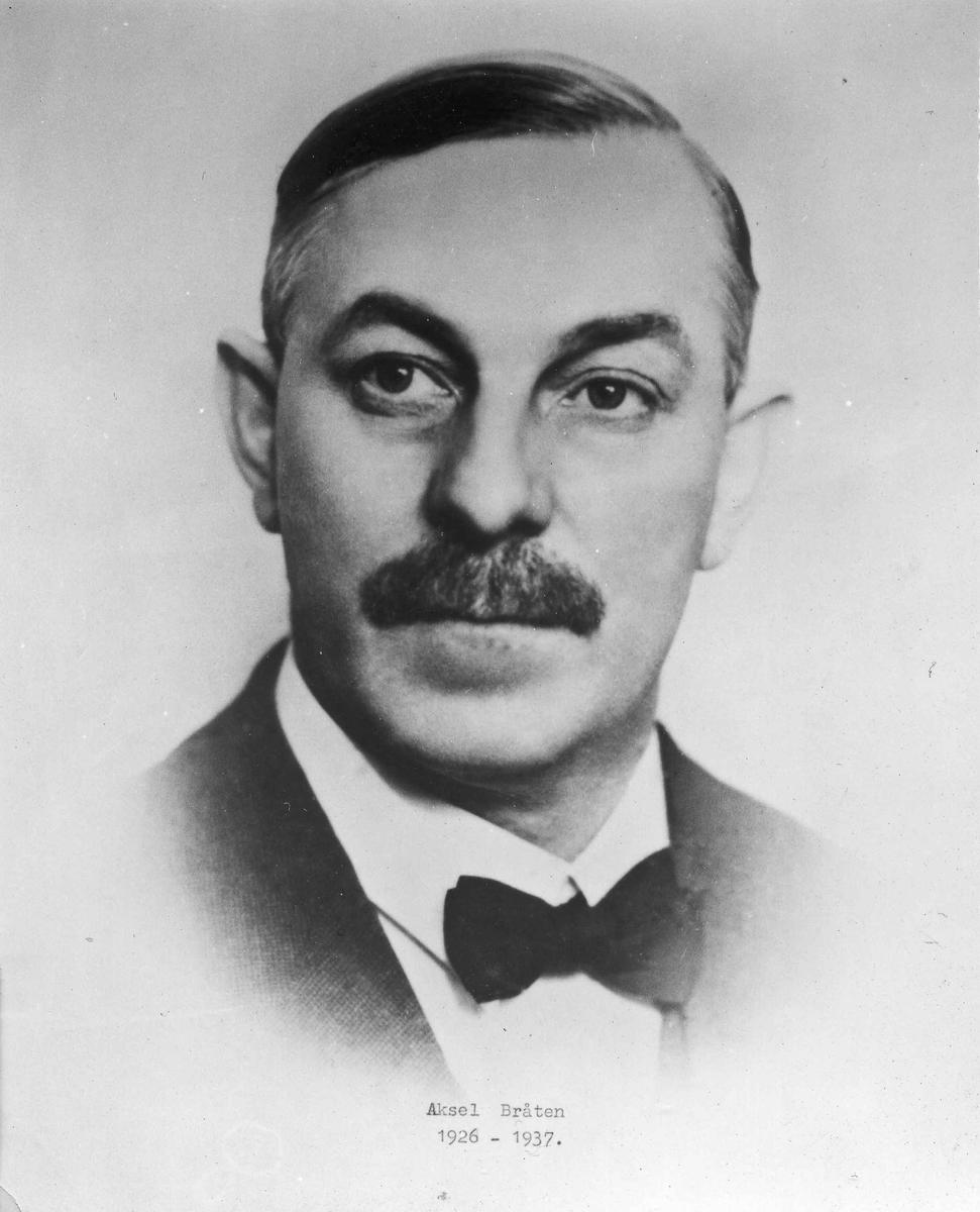Aksel Braaten. Formann 1925-26. Ordfører 1926-37.