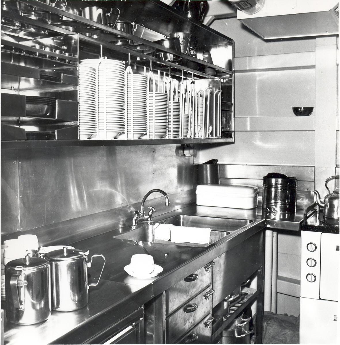 Enkeltbilde. Fregatten KNM Oslo, bysse 1966