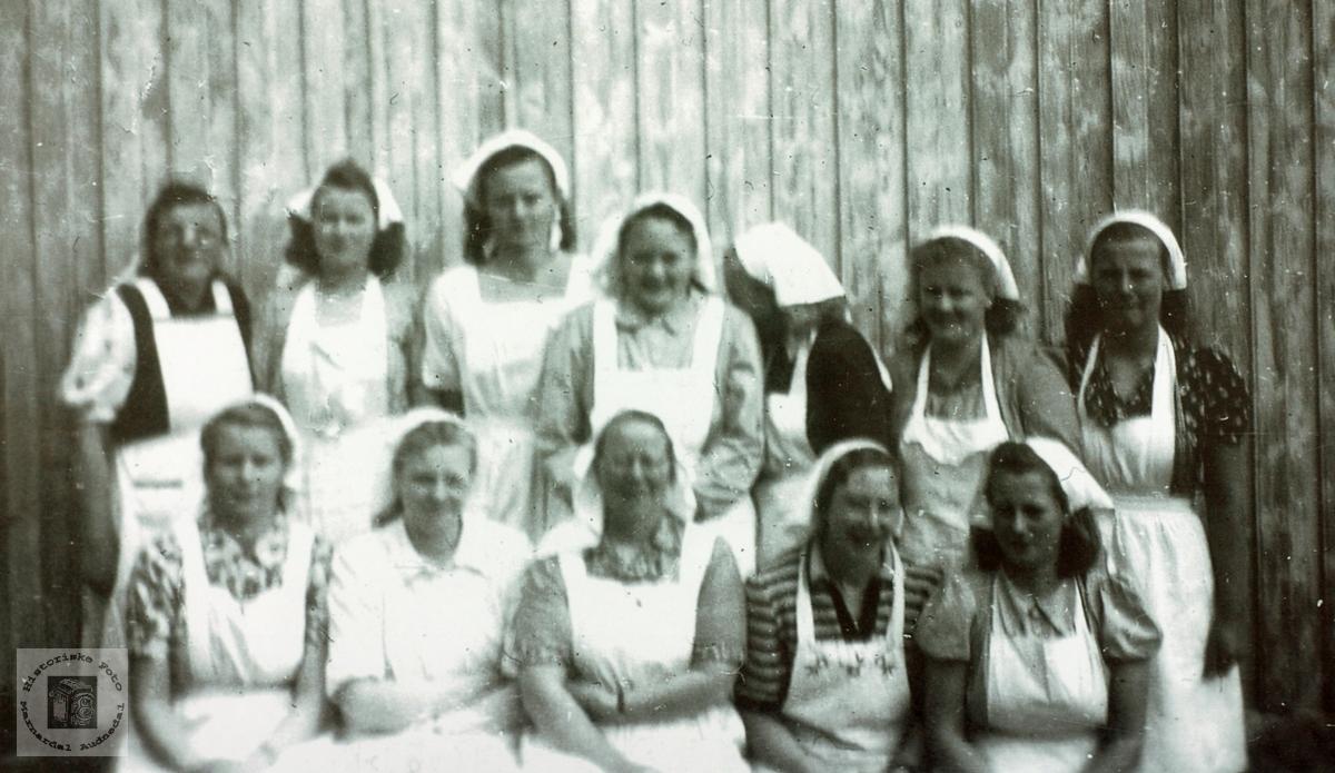 Matstellkurs i Selandsdalen, Grindheim senere Audnedal.