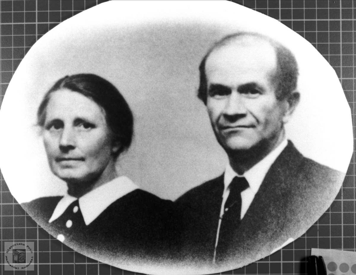 Portrett av ekteparet Martine (Tine) og Søren Strædet.