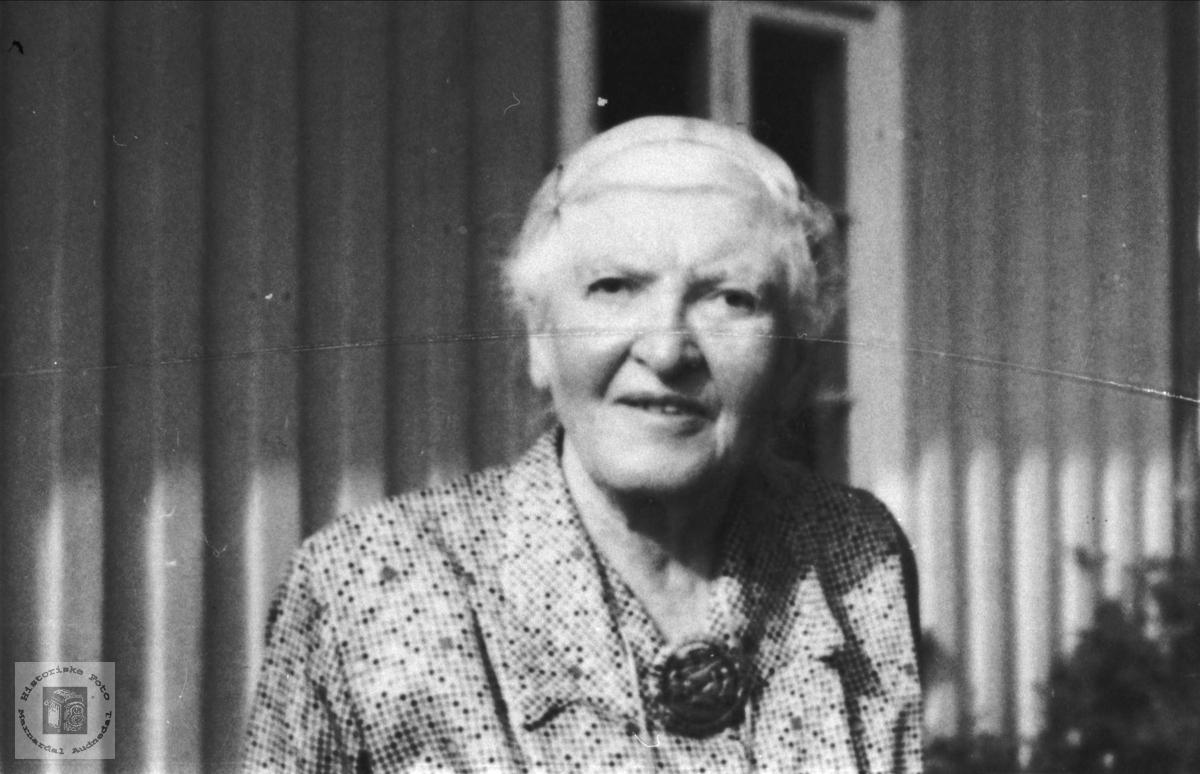 Portrett av Sofie Heddeland, Øyslebø.