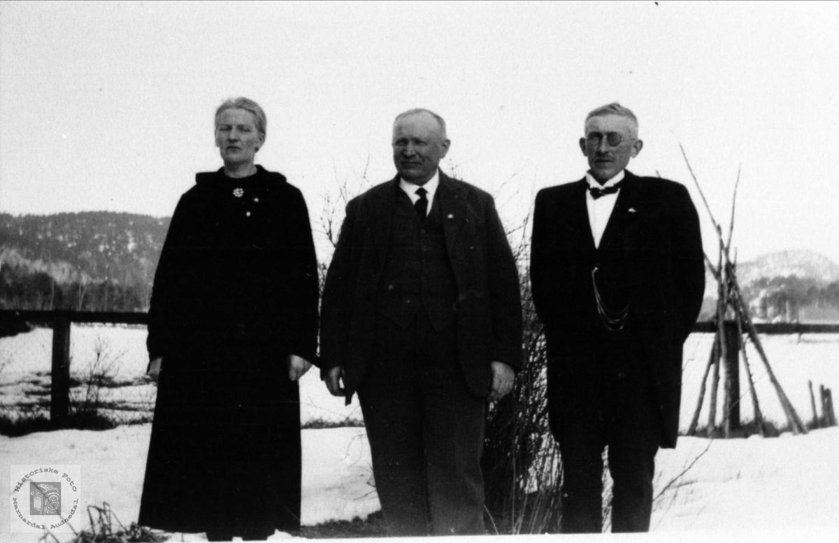 Gruppeportrett Leirkjær, Øysebø og Heddeland.