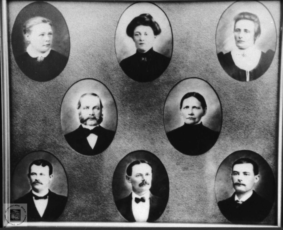 Familiebilde Koland Løvås, Bjelland og Finsland.