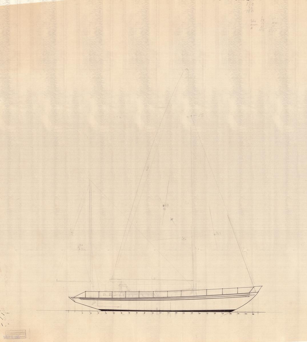 Skiss, segelritning