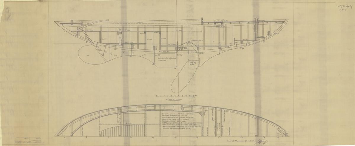 Byggnadsritning i plan och profil