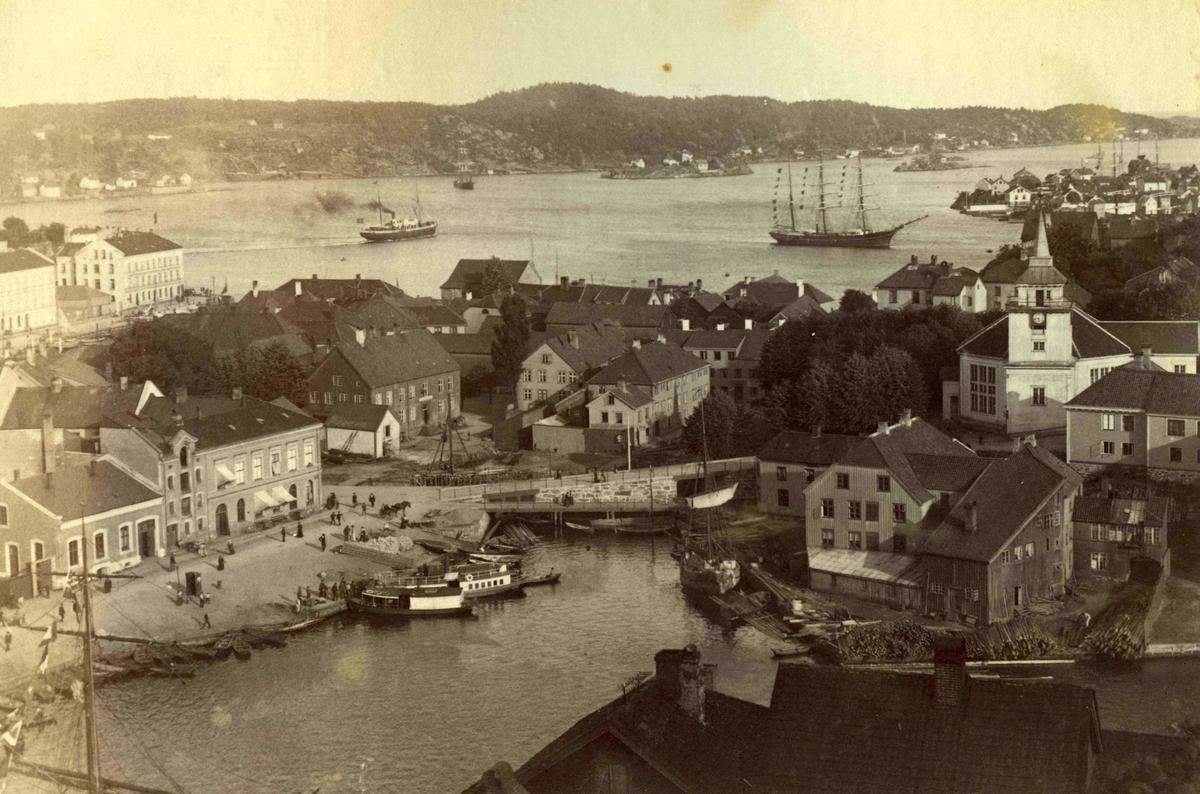Stedsbilder Arendal Arendal sentrum - 1884
