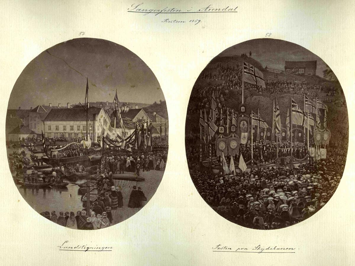 Sangerfesten i Arendal 1859 -bilde nr 57 Landstigningen i Pollen - bilde nr 58