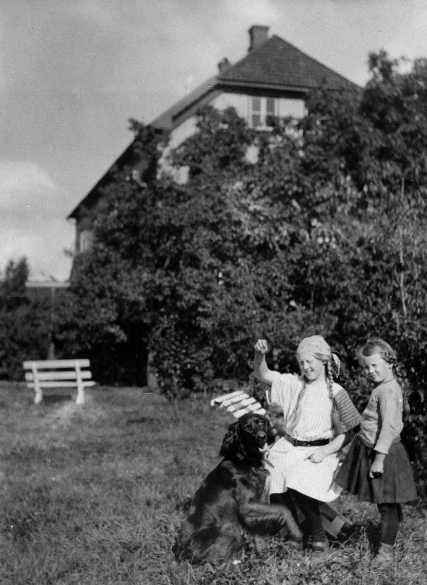Søstrene Michelsen, gård, piker, landskap